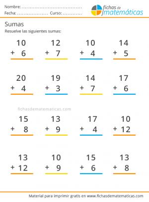 ejercicio de sumas