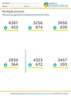 multiplicaciones para imprimir