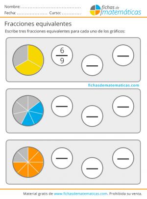 como calcular fracciones equivalentes