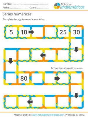 fichas de series numericas
