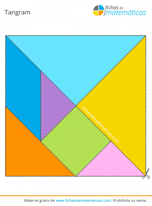 plantilla de tangram gratis