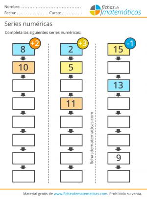 series de números para primaria
