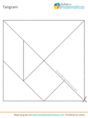 tangram para colorear