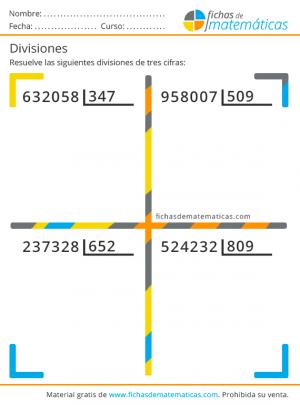 divisiones 3 cifras