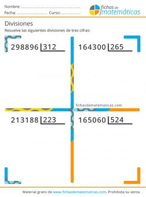 divisiones de tres cifras