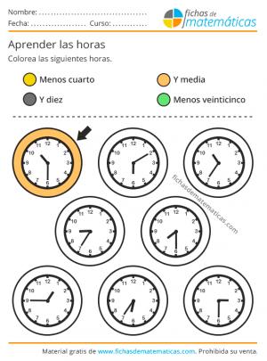 ejercicios reloj