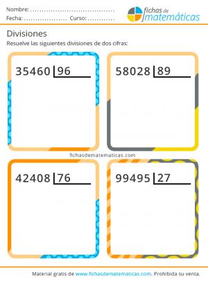 imprimir ejercicios de divisiones de dos cifras
