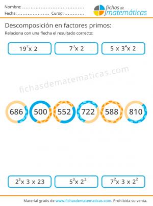 pdf de matemáticas, descomposición factorial