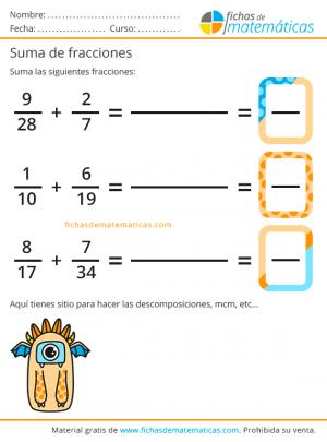 fraccion suma