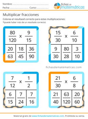 fracciones para multiplicar ejercicio