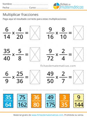imprimir multiplicaciones de fracciones