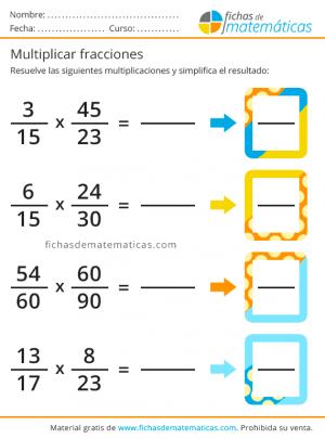 multiplica fracción ejercicio