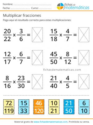 multiplicaciones de fracciones