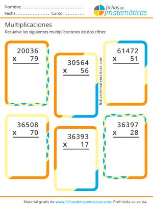 aprender las multiplicaciones de dos cifras