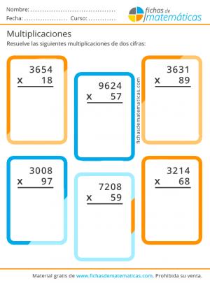ejercicios de multiplicaciones 2