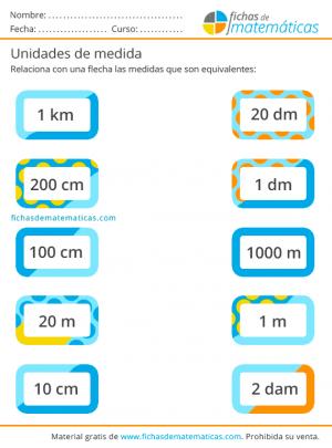 medidas de longitud ejercicios