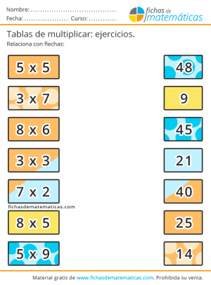 multiplicar y unir flechas