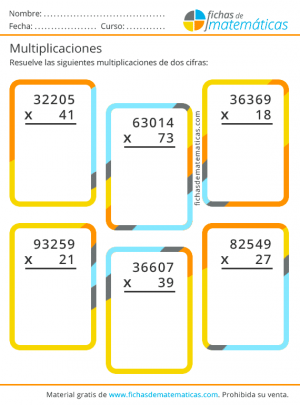 primaria multiplicaciones