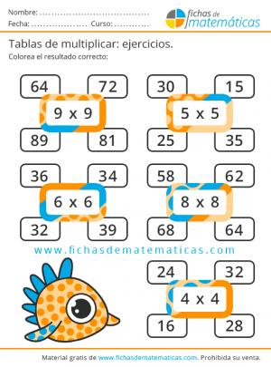 repaso de las tablas de multiplicar