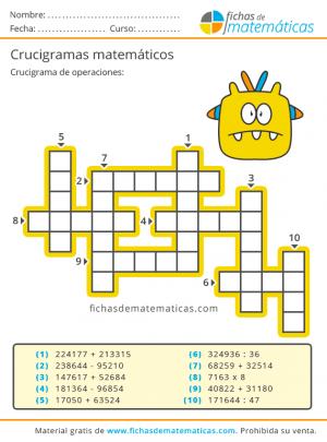 crucigramas numericos pdf