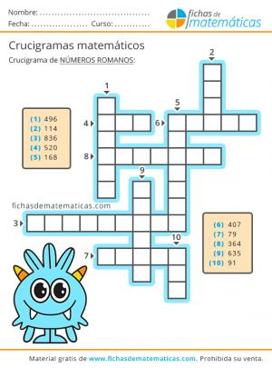 números romanos crossword