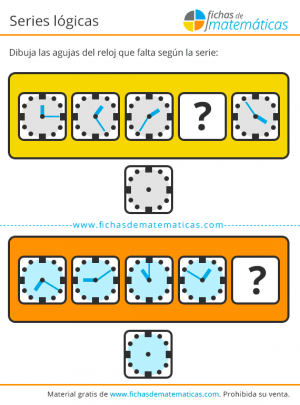 juego de lógica con horas