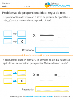 problemas de regla de tres simple