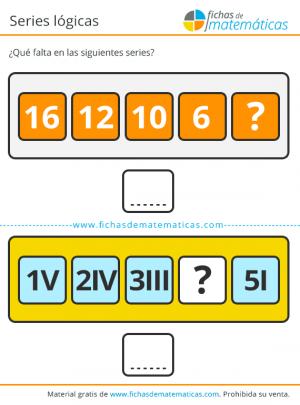 secuencia lógica con números romanos