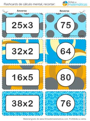 flashcards de multiplicaciones