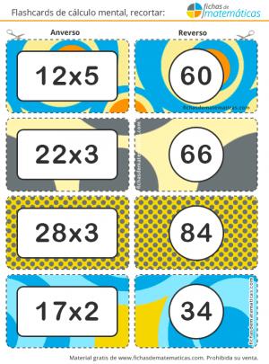 tarjetas para multiplicar