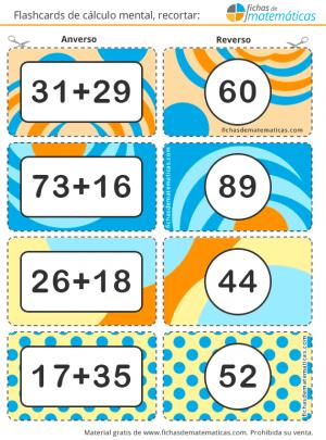 tarjetas de sumas