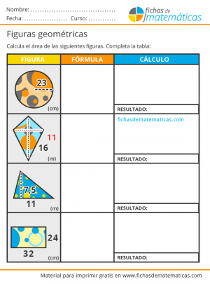 ejercicios de áreas para primaria