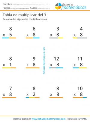 multiplicaciones tabla del 8