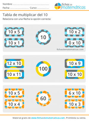 multiplicar por 10 fichas