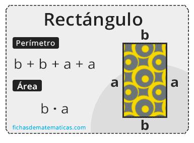 rectángulo área y perímetro